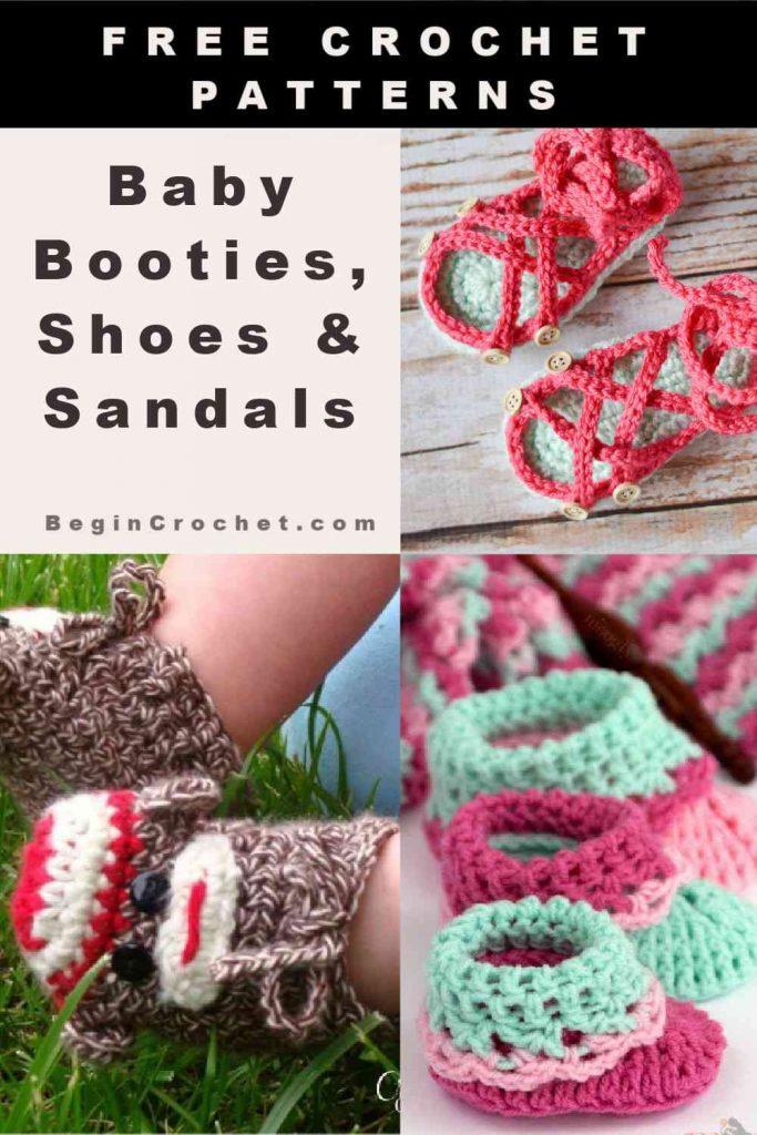 baby bootie free crochet patterns