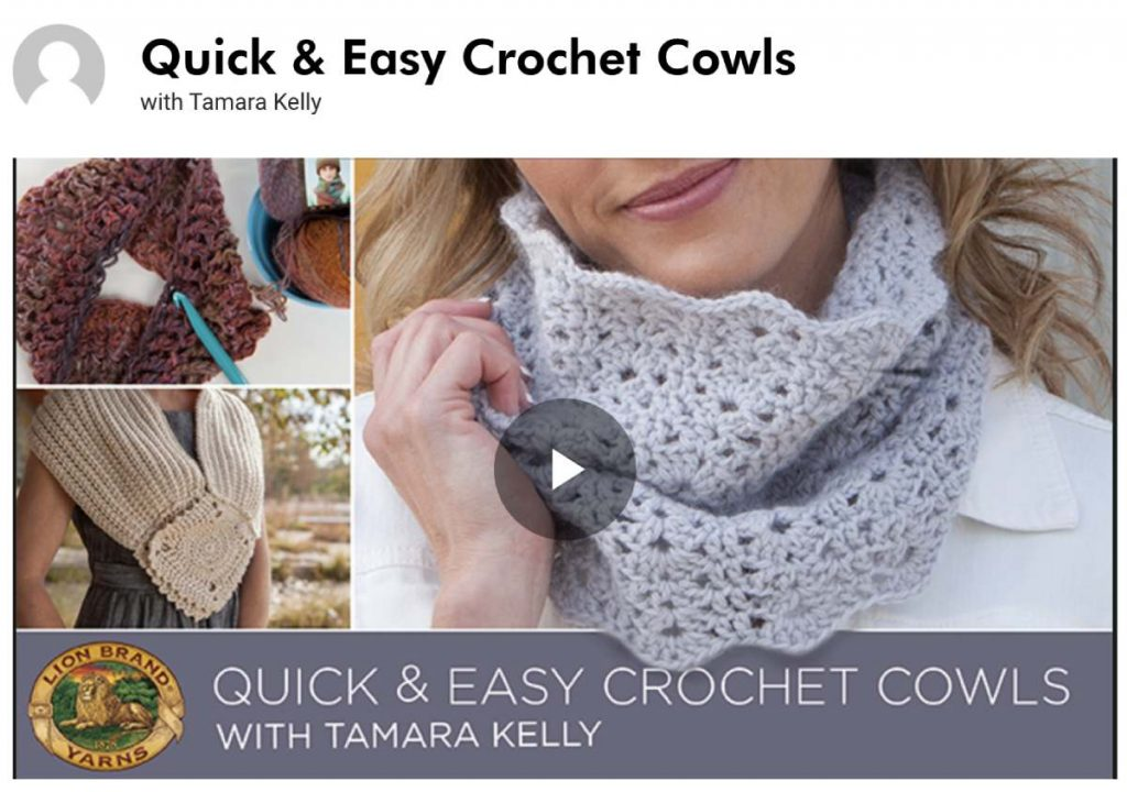Online class for crocheting a cowl
