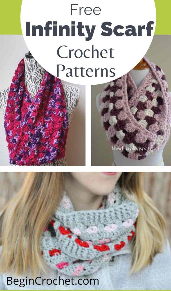 infinity scarf free crochet patterns