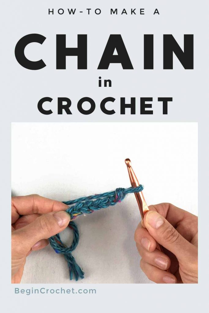 how to make a crochet chain tutorial