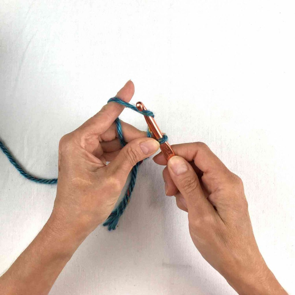 yarn over to crochet a chain