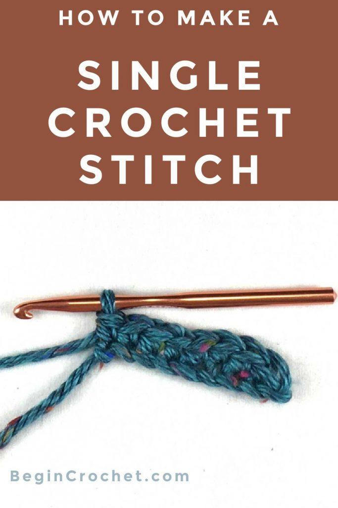 How to make a single crochet (sc) stitch