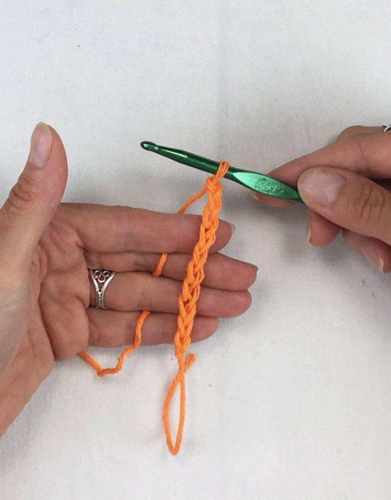 Crocheting a chain