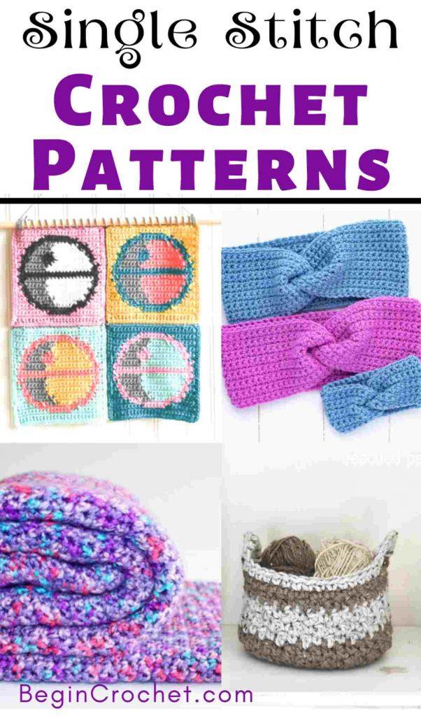 Single Stitch free crochet patterns
