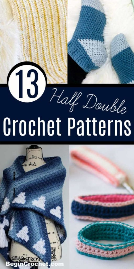 All free patterns for the half double crochet stitch